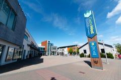 Maj 27th, 2017, Ballincollig, Co korek, Irlandia, CastleWest centrum handlowe -, lokalizujący z głównej ulicy Zdjęcia Royalty Free