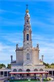 Maj 13th beröm Mary Basilica av damen av radbandet Fatima Portugal Arkivfoton