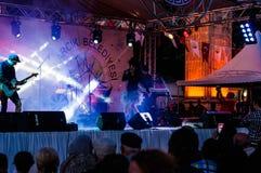 Maj 19th ungdom- och för sportdagfestival konsert Royaltyfria Foton