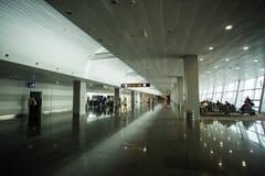 Maj 15, 2014 Ukraina inre av den internationella flygplatsen Borispol: En ny terminal för avvikelsen av flygplan Ämne av luft tr Arkivbilder