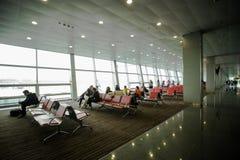 Maj 15, 2014 Ukraina inre av den internationella flygplatsen Borispol: En ny terminal för avvikelsen av flygplan Ämne av luft tr Royaltyfri Fotografi