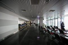 Maj 15, 2014 Ukraina wnętrze lotnisko międzynarodowe Borispol: Nowy terminal dla odjazdu samolot Temat powietrze tr obrazy stock