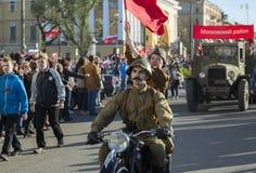 "Maj 9 - Victory Day St Petersburg Ryssland †""kan 9, 2015 Arkivfoto"