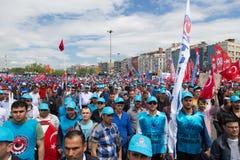 Maj 1 w Istanbuł Zdjęcie Royalty Free