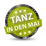 Maja dzień przekład: - Niemiecki sieć guzik - Tanczy W Maja - Wektorowa ilustracja Zdjęcie Royalty Free