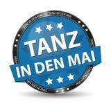Maja dzień przekład: - Niemiecki sieć guzik - Tanczy W Maja - Wektorowa ilustracja Fotografia Stock