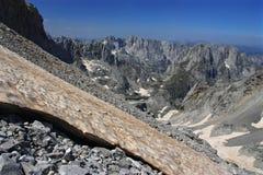 Maja Jezerce in Albania - paradiso non scoperto della montagna immagine stock