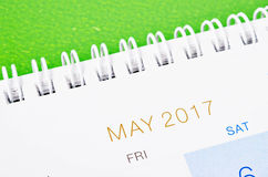 Maja kalendarz 2017 Obraz Royalty Free