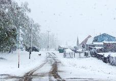 Maja śnieg Zdjęcia Royalty Free