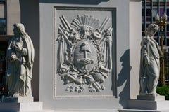 Maja ostrosłupa statuy Piramide de Mayo zdjęcie royalty free