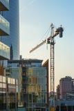 Maja 2017 Porta Garibaldi teren - Mediolański w budowie - Zdjęcia Stock