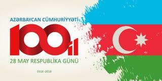 28 Maja Respublika gunu Przekład od azerbejdżańskiego: 28th May R Obrazy Royalty Free