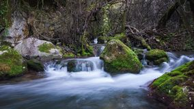 Majaceite River Benamahoma Cadiz Spain time-lapse stock footage