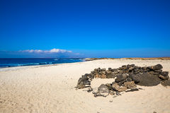 Majanicho beach Fuerteventura Canary Island Royalty Free Stock Images