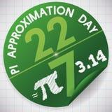 Majcher Świętować Pi aproksymaci dzień na 22nd Lipu, Wektorowa ilustracja Obrazy Stock