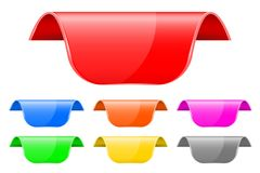 Majcher etykietki Barwiony 3d set ilustracji