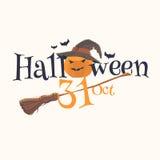 Majcher i plakatowy Szczęśliwy Halloween royalty ilustracja