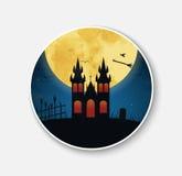 Majcher & x28; icon& x29; dla Halloweenowej nocy scenerii royalty ilustracja