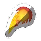 majcher kolorowa sylwetka z żółtym olimpijskim płomieniem Zdjęcia Stock