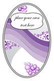 Majcher z purpurowym gradientem i kwiecistym motywem Zdjęcie Royalty Free