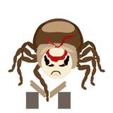 Majcheru pająk odizolowywający łama deski ilustracja wektor