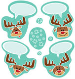 Majchery śliczni szczęśliwi deers royalty ilustracja