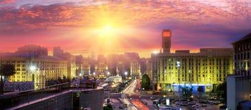 Majdan szczególnie piękny przy nocą Obrazy Royalty Free