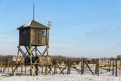 Majdanek集中营在鲁布林,波兰 库存照片
