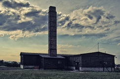 Majdanek crematory building. Crematory building in a concentration Majdanek Camp. Lublin, Poland Stock Photo