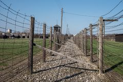 Majdanek Koncentracyjny obóz Drugi wojny światowa Nazistowski Niemiecki koncentracyjny obóz w Lublin Polska zdjęcie stock