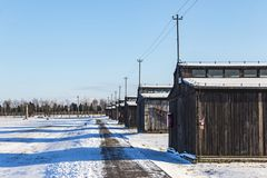 Majdanek-Konzentrationslager in Lublin, Polen stockfotografie