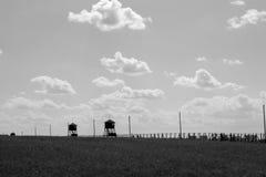 MAJDANEK, LUBLIN POLSKA, Majdanek koncentracyjny obóz na o, - zdjęcia stock