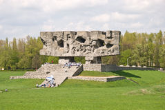 Majdanek Monument. Monument in Former German Extermiation Camp in Majdanek Stock Photography