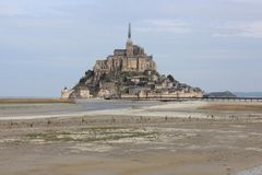 The majectic Mont-Saint-Michel in France. Normzndie, normandie, architecture, historic, coast royalty free stock photography