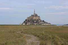 The majectic Mont-Saint-Michel in France. Normandie, historic stock images