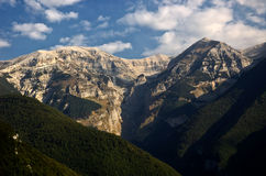 The Majella massif. A distant view of the Majella Massif, in the region of Abruzzo, Italy Stock Photography