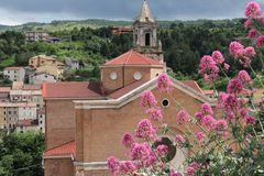 Majella Nationaal Park in Italië De stad van Palena royalty-vrije stock fotografie