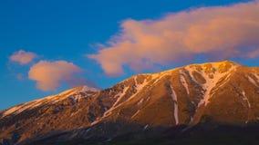 Majella solnedgång, Abruzzo, Italien Arkivfoto