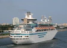 Majestät der Meere durch königliches karibisches Cruiselines Stockbilder