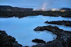 Majestätische blaue Lagune in Island Stockfotografie