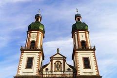Majestätische Ebersmunster-Abtei außerhalb der Ansicht Lizenzfreie Stockfotografie