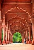 Majestätische Fassade des roten Forts lizenzfreies stockbild