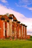 Majestätische Ruinen von Ställen und von Hauptsitzen von Husaren Lizenzfreie Stockbilder