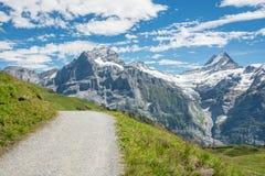 Majestätische Spitzen in den Schweizer Alpen lizenzfreies stockbild