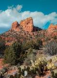 Majestätischer Kathedralen-Felsen, Sedona Arizona, USA stockbild