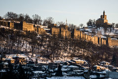 Majestätisches Schloss Tsarevets stockfotos