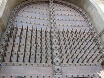 Majestätisk dörr på ingången Fotografering för Bildbyråer