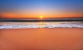 Majestätisk havsolnedgång Royaltyfri Foto