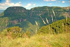 Majestätisk kanjon i sydliga Brasilien Arkivfoto