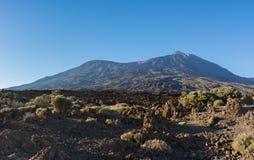 Majestätisk panoramautsikt av den Teide vulkan och Pico Viejo på s royaltyfri foto